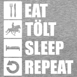 eat. tölt. sleep. repeat. - Männer Premium T-Shirt