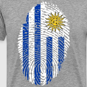 URUGUAY FINGERABPRESSION. SOUTH AMERICA SPANISH - Men's Premium T-Shirt