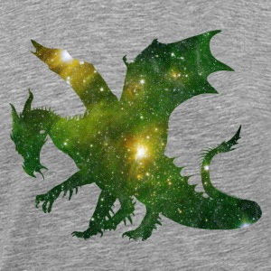 Space dragon - dragon fairy fantasy worm - Men's Premium T-Shirt