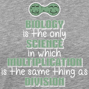 Biology  Multiplication = Division Funny Science - Männer Premium T-Shirt