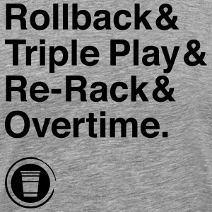 Rollback Triple Play Re-Rack horas extras - Camiseta premium hombre