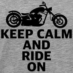 Motorcycle CHOPPER keep calm and ride on cruise - Men's Premium T-Shirt