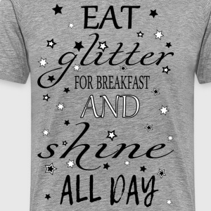 Spis glitter for frokost - Premium T-skjorte for menn