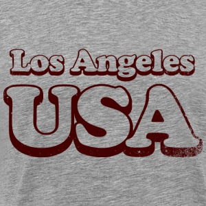 los angeles VS uni - Mannen Premium T-shirt
