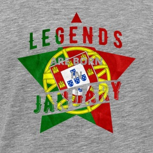 T-shirt - Portugal - Legend - Januari - Premium-T-shirt herr