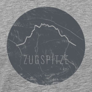Zugspitze contour on wooden plate - Men's Premium T-Shirt