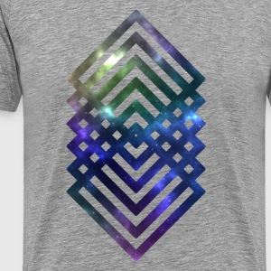 Square Galaxy Pattern - Herre premium T-shirt