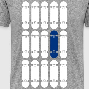 OneBoardBlue / White - Men's Premium T-Shirt