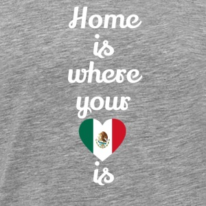 gift home heart love love mexico - Men's Premium T-Shirt