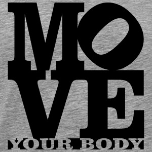 move your body Homage to Robert Indiana myb black - Men's Premium T-Shirt