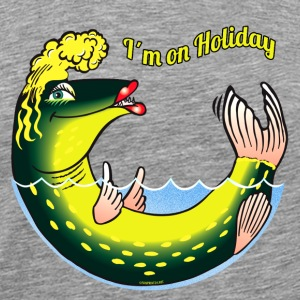 10-39 LADY FISH HOLIDAY - Lady vakantie Pike - Mannen Premium T-shirt