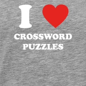 hobbygift birthday i love CROSSWORD PUZZLES - Men's Premium T-Shirt