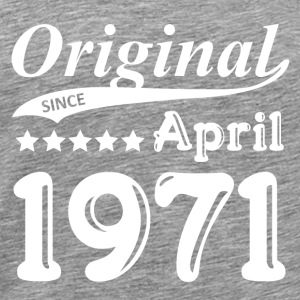 Original Sinds april 1971 Gift - Mannen Premium T-shirt