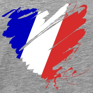 Heart Cœur France France Grande Nation Red wine - Men's Premium T-Shirt