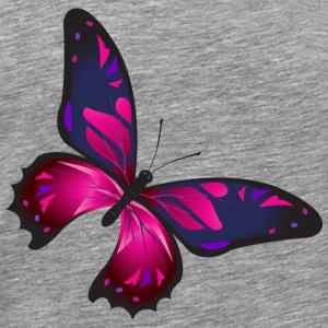 Schmetterling Illustration Lila - Männer Premium T-Shirt