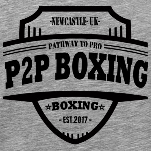 P2P Boxing Black Logo - Men's Premium T-Shirt