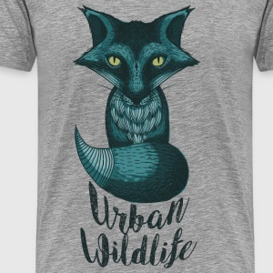 urban wildlife blue - Men's Premium T-Shirt