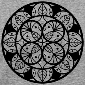 Mandala Leaf black - Men's Premium T-Shirt