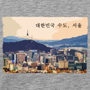 Seoul at Sunset - Men's Premium T-Shirt