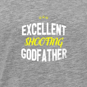 Distressed - EXCELLENT SHOOTING GODFATHER - Men's Premium T-Shirt