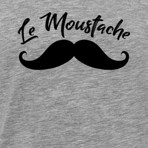 Le Mustache beard design gift - Men's Premium T-Shirt