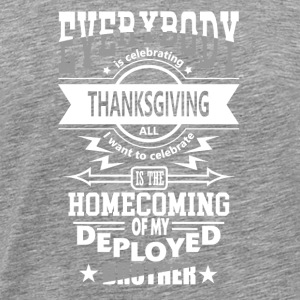 Statonierter broer Military Patriot Thanksgiving - Mannen Premium T-shirt
