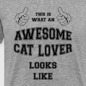 AWESOME CAT LOVER. BESTSELGER - Premium T-skjorte for menn