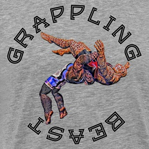 Grappling Beast (ape vs jaguar) - T-shirt Premium Homme