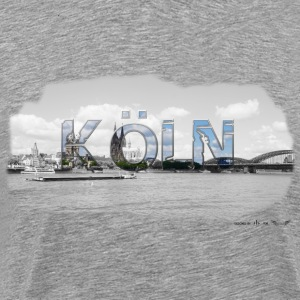 Cologne on the Rhine from favorite region (skyline) - Men's Premium T-Shirt