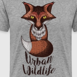 urban wildlife red - Men's Premium T-Shirt