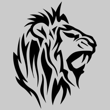Lion Tribal Tatouage Dessin 14025 De C2b Spreadshirt