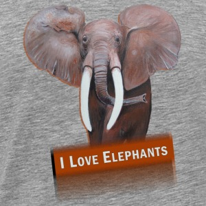 I LOVE ELEPHANTS - Premium T-skjorte for menn