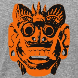 Indonesia Bali maske sort / orange - Premium T-skjorte for menn