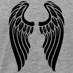 Angels Wings Logo - Premium T-skjorte for menn
