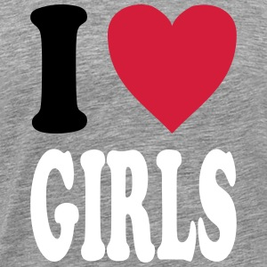 I love GIRLS (all colors!) - Men's Premium T-Shirt