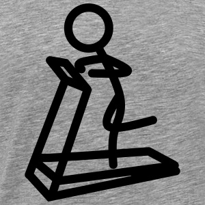 Stickman running (treadmill) - Men's Premium T-Shirt