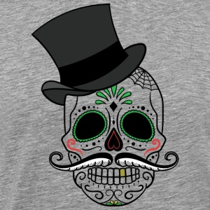 Day of the Dead - Skull - Premium T-skjorte for menn