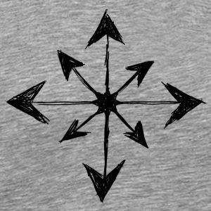 Chaos Star - Sort - Herre premium T-shirt