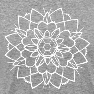 mandala to negative smak av blekk tatovering - Premium T-skjorte for menn