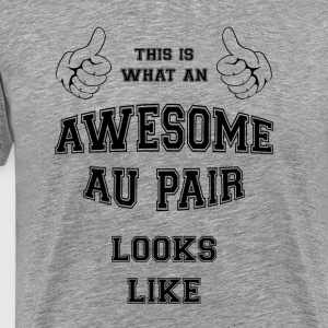 AWESOME AU PAIR - Premium T-skjorte for menn