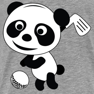 Golf Panda - Premium T-skjorte for menn