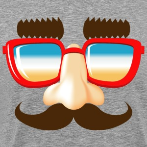 stuffing and catches mustache nose glasses - Men's Premium T-Shirt