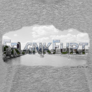 Frankfurt am Main fra favorit-regionen (Skyline) - Herre premium T-shirt