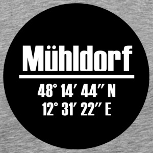 Mühldorf am Inn - coordinates black - Men's Premium T-Shirt