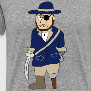 Pirates | Pirate | Wood leg - Men's Premium T-Shirt