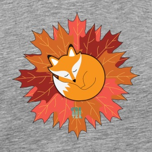 Fox And Tea_ Fall - Premium-T-shirt herr