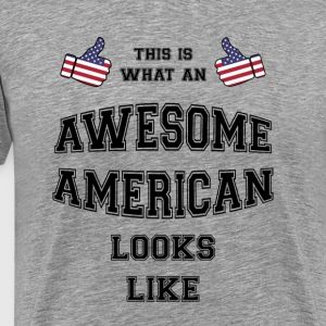 Awesome American - Herre premium T-shirt