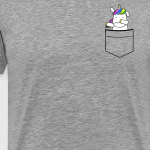 Unicorn Baby Dab breast pocket - Men's Premium T-Shirt