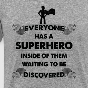 Superhero, Skole, Motivational Design - Herre premium T-shirt