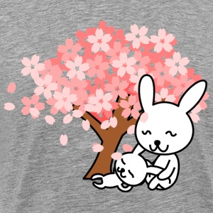 Hare and tree for Easter - Men's Premium T-Shirt